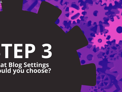 (BLOG) Step 3: Blog Post Settings in Wix