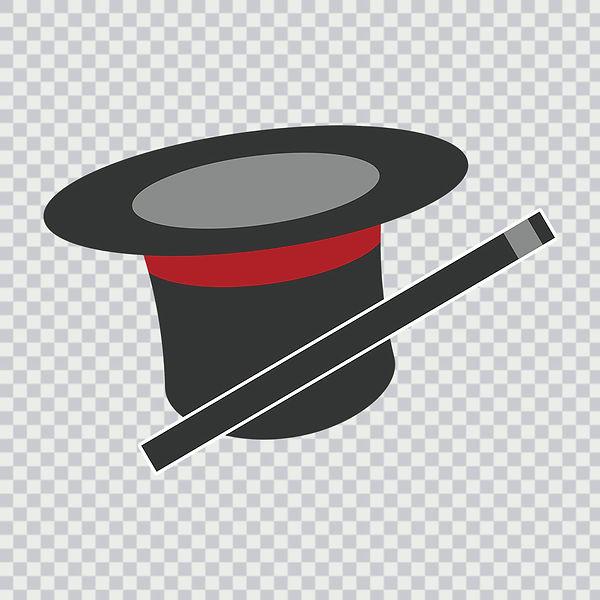 magic wand, magician wand, top hat