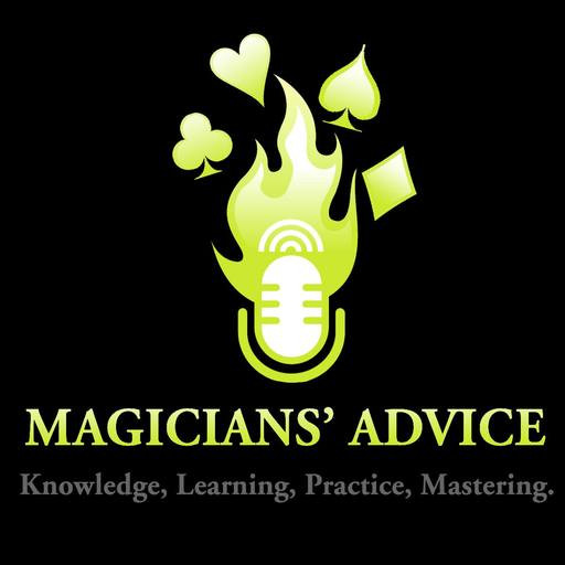 Magician Advice log with the words Knowledge, Learning, Practice and Mastering