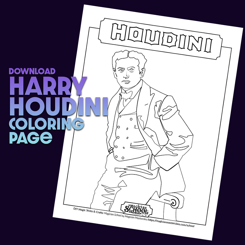 Harry Houdini Coloring Page for kids