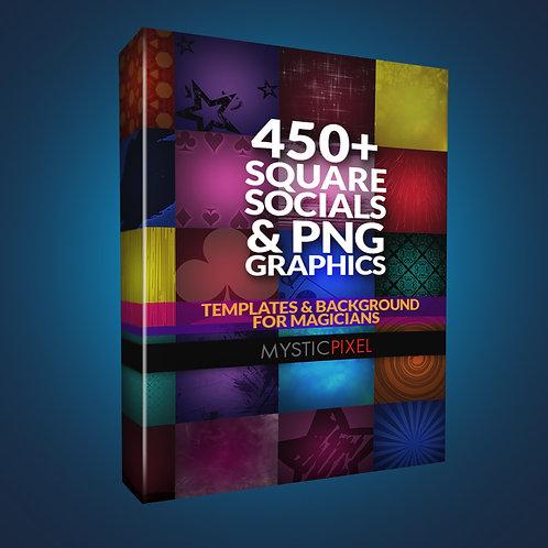 450+ Square Social Backdrops & PNG Graphics