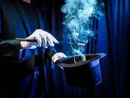 Magician Top Hat, Wand & Smoke