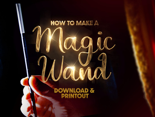 How To Make A Magic Wand Out Of Paper (PDF)