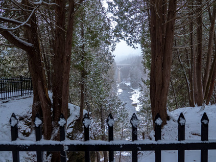 Snowy Elora Gorge and Grand River