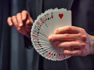 Magician Stock Photo of a Card Fan