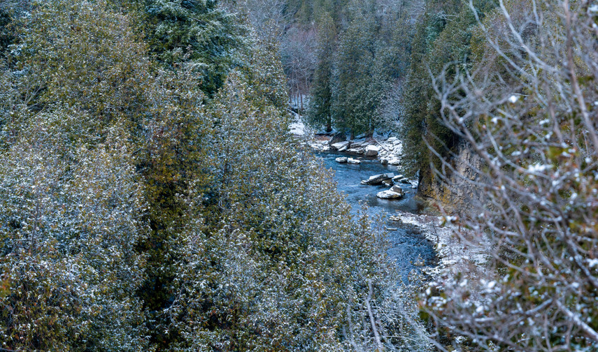 Wintery Grand River and Elora Gorge