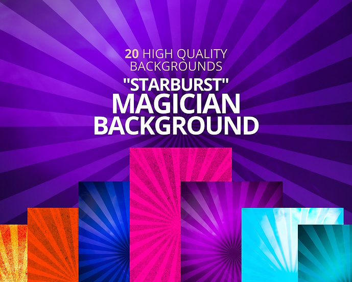 "20 Magician ""Starburst"" Backgrounds for your Magician Business"