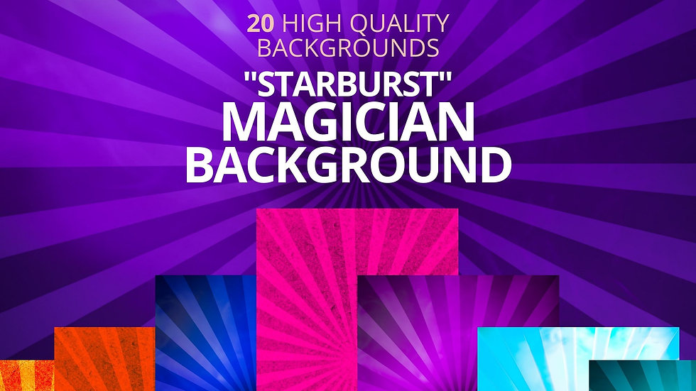 """20 Magician """"Starburst"""" Backgrounds for your Magician Business"""