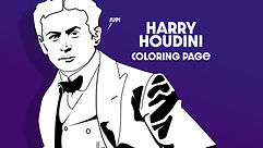 Harry Houdini Coloring Page