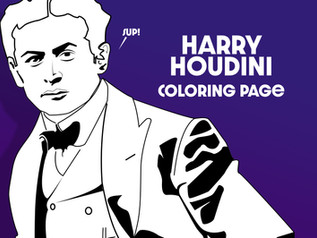 Harry Houdini Coloring Page For A Kid Who Loves Magic