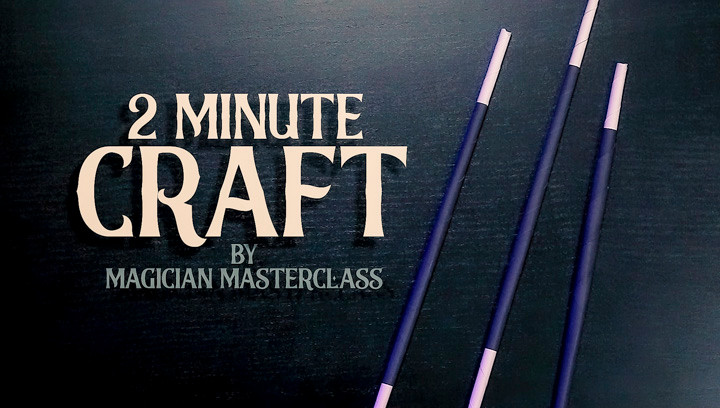 "three magic wands with the words ""Two Minute Craft"""
