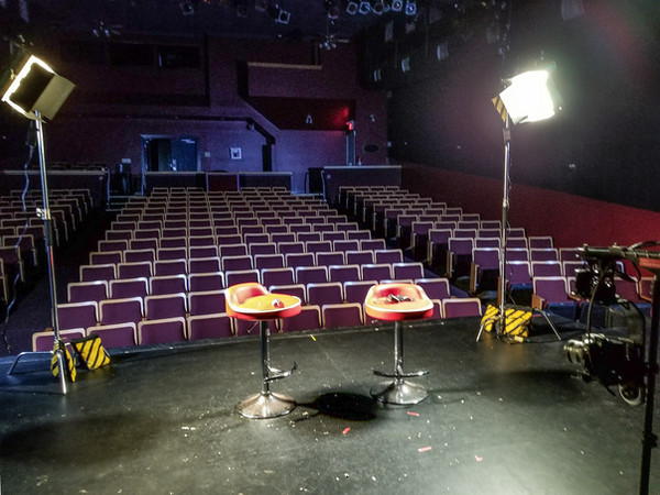 Filming onstage Fergus Grand Theatre