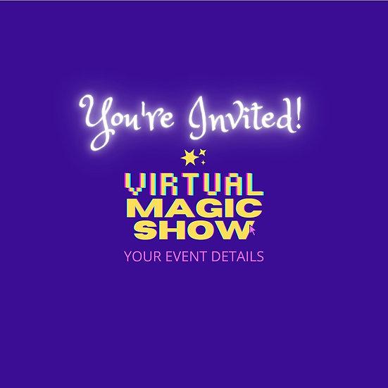Virtual Magic Show Template & Party Invitation