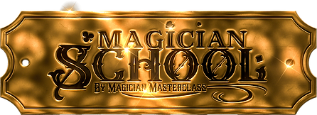 Magician School gold badge logo by Magician Masterclass