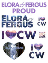 Elora & Fergus words and logos for printing