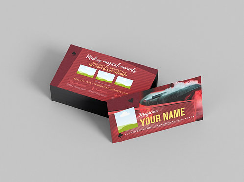Business Card Template | Magician Smoke Top Hat & Wand