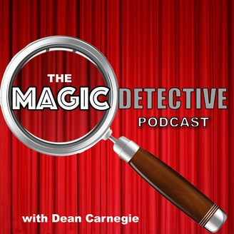 The Magic Detective Podcast Logo with Dean Carnegie