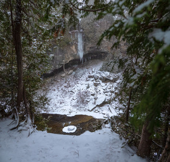 Ice building up in Elora Gorge is a great for adventurer seekers