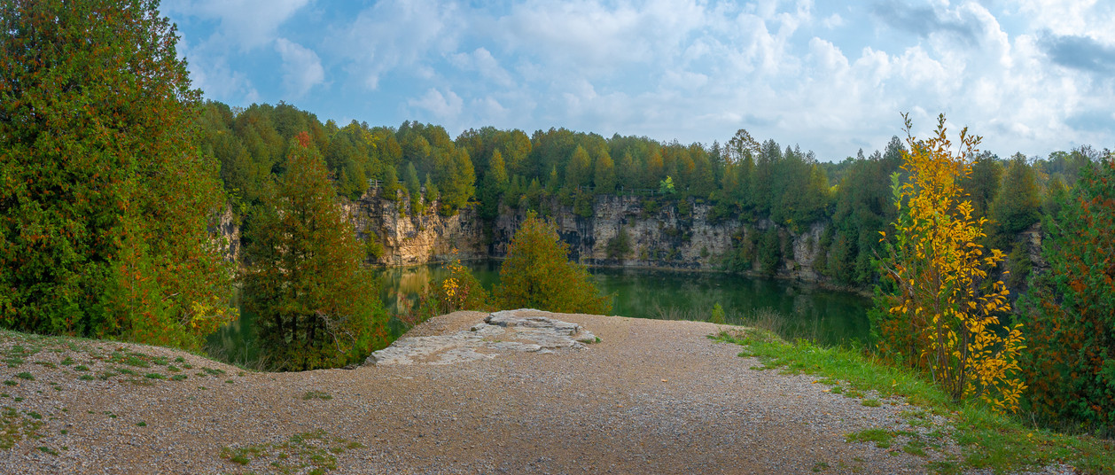 The Elora Quarry is a great place to take the family in Elora Ontario