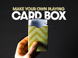 Playing Card Box Template (PDF, PSD, SVG and more)