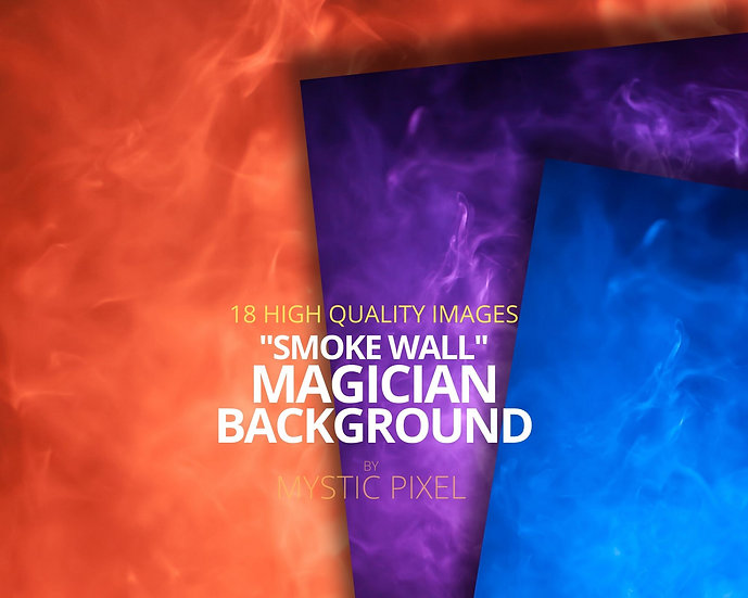 "18 Magician ""Smoke Wall"" Background - Stock Images for Magicians"