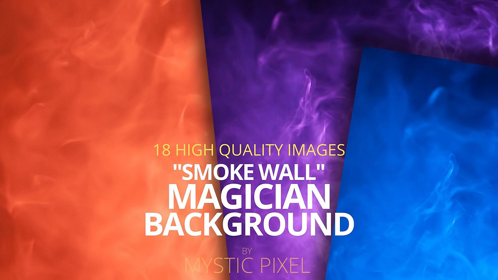 """18 Magician """"Smoke Wall"""" Background - Stock Images for Magicians"""