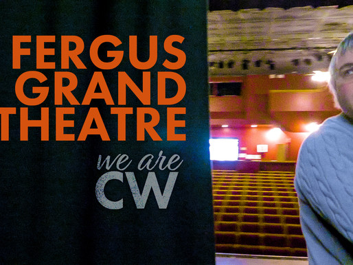 Fergus Grand Theatre: A peak behind the curtain.