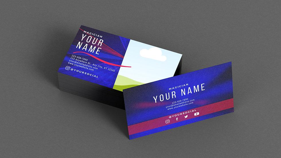 Magician Business Card Template: Smoke & Laser