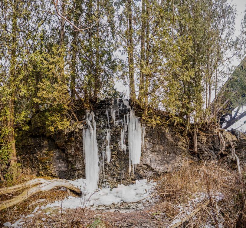 Trestle Bridge Trail ice