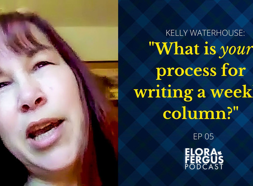 """(VIDEO) """"What is your process for writing a weekly column?"""""""