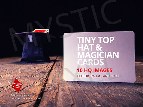 Magician Tiny Top Hat /w Blank Playing Cards