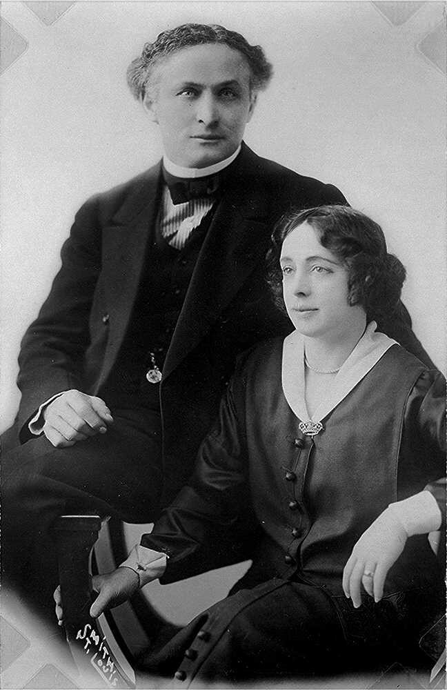 Portrait of Harry and Bess Houdini