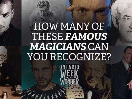 How many of these Famous Magicians can you recognize?