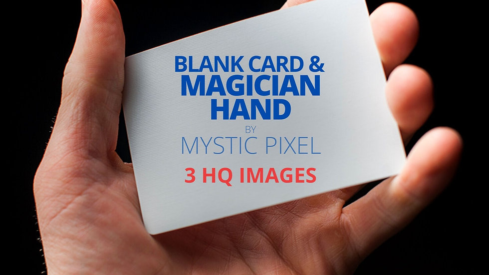 Magician Hands & Blank Card Image