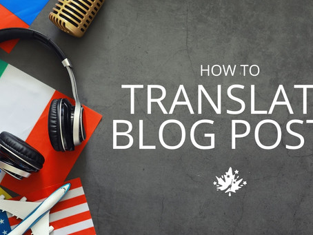How to properly translate blog posts