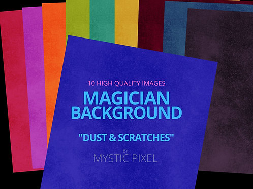 """10 Magician Backgrounds """"Dust & Scratches"""" Pack for Social Media"""