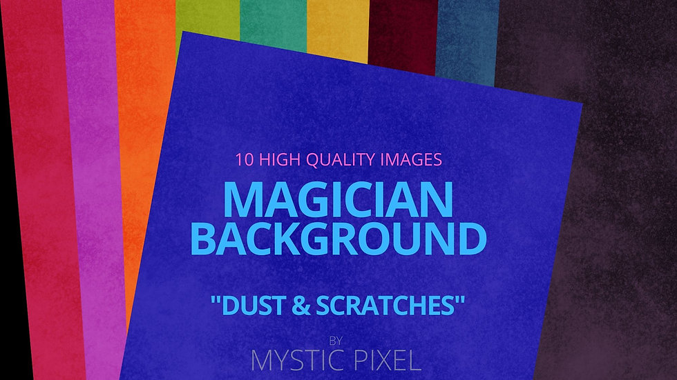 "10 Magician Backgrounds ""Dust & Scratches"" Pack for Social Media"