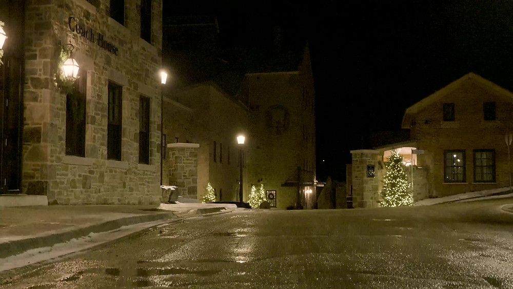 Elora Mill at Christmas