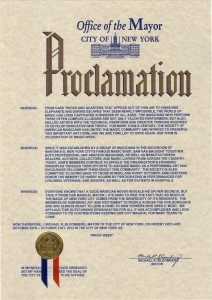 New York City Mayor National Magic Week Proclamation