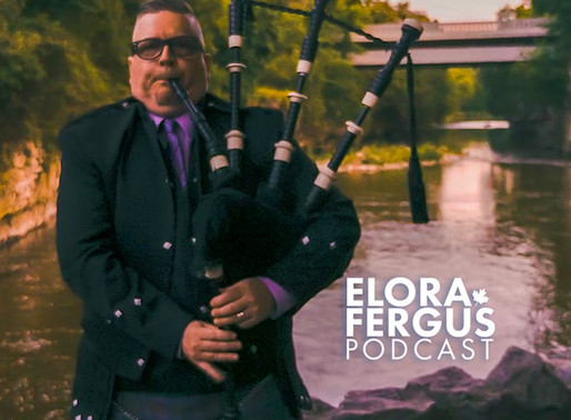 """Paying Tribute with Pipes"" Peter 'Piper' Hummel is on the Elora Fergus Podcast"