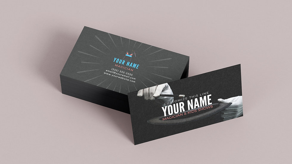 Magician Top Hat Business Card Template