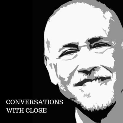 Master Magician Michael Close picture with the words Conversations with Close Magician Podcast