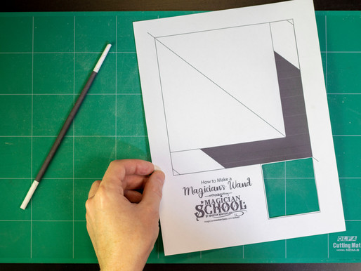 Easy Magic Wand Trick and Printable Template