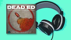 Dead ED OST album art with a pair of headphones
