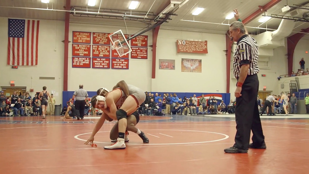 Joe Porter Scoring A Takedown in Stand Up Wrestling Documentary