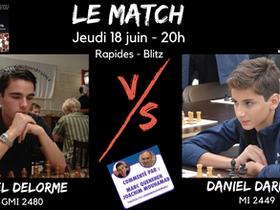 Tous à vos écrans : match Axel Delorme vs Daniel Dardha