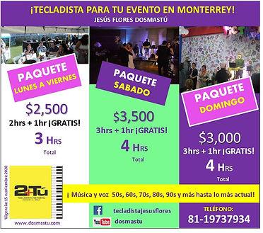 PaquetesTecladista en Monterrey Jesus Fl