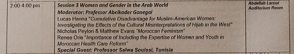 Lucas Hanna sociology presentation in Morocco