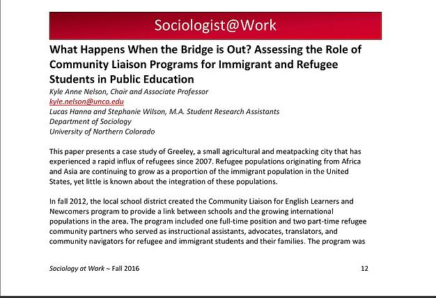 Sociologist@work Luke Hanna and Stephanie wilson AACS