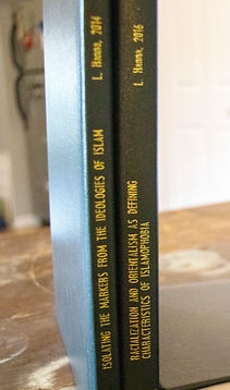 Spine of Luke Hanna's applied Sociology Theses